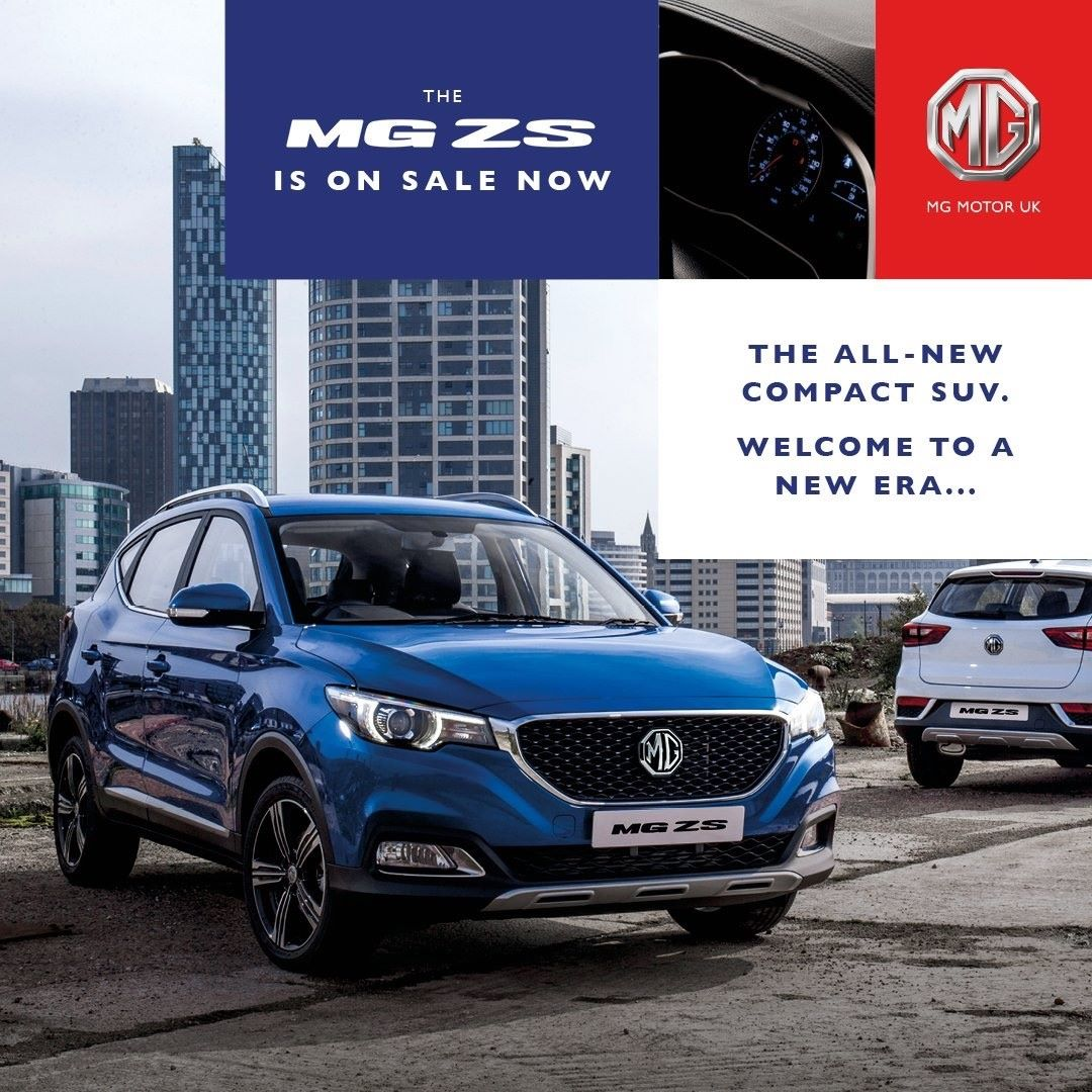 New MG ZS Now On Sale With 7 year/80,000 Miles Warranty!